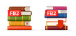 FB2 books stacks  icons
