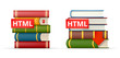 HTML books stacks  icons