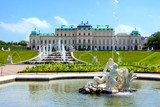Fototapety Belvedere Palace, garden and fountains, Vienna, Austria