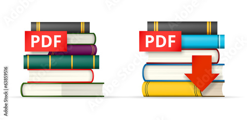 PDF books stacks  icons