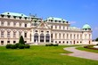 View of Belvedere Palace and gardens, Vienna, Austria