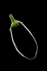 Eggplant on Black Background