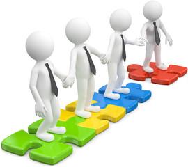 Teamwork zusammenhalt Puzzle
