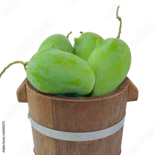 Green mango isolated