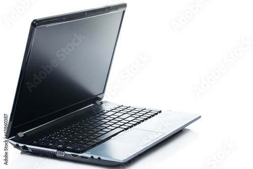 Technology. Laptop on a white background
