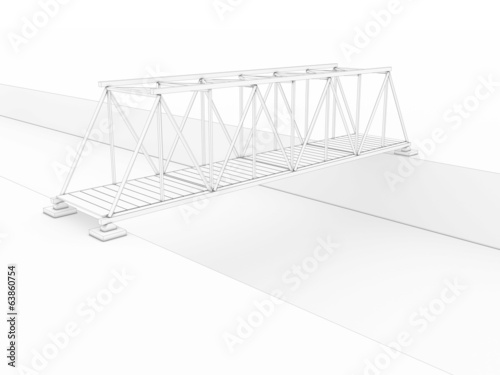 3d bridge drawing №1