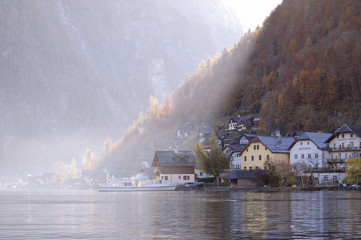 Hallstatt, Austria late afternoon