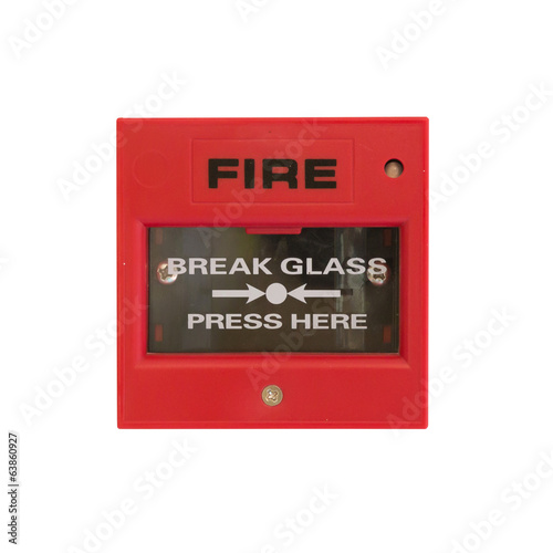 Push button switch fire
