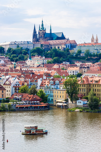 The View on Prague gothic Castle