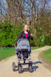 Exercising with a baby buggy