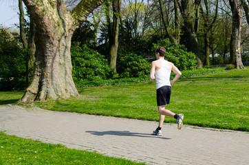jogger im park