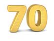 zahl cipher 70 gold vertikal
