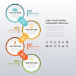 Color Circle Outline Infographic Elements