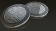 The digital currency silver coins
