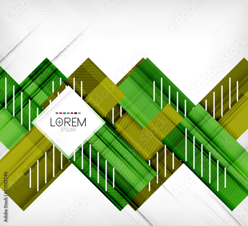 Green stylized geometrical leaves