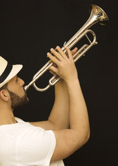 handsome guy with trumpet
