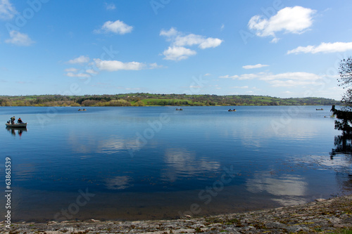 Blagdon Lake Somerset in South West England