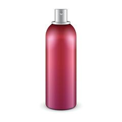 Red Aerosol Spray Metal 3D Bottle Can: Paint, Graffiti