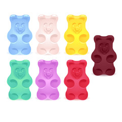 Set of colorful gummy bears v.2