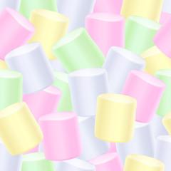 Seamless marshmallow background.