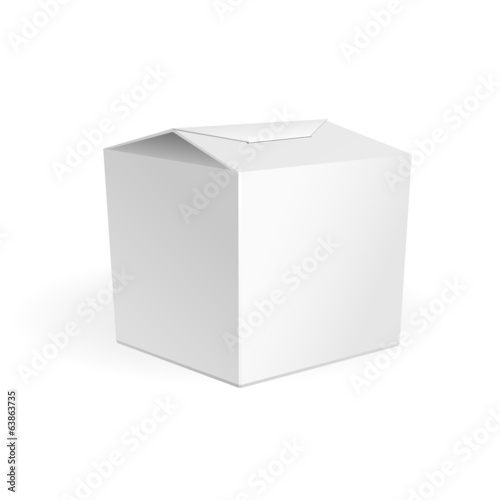 White Cardboard Fast Food Or Candies Box