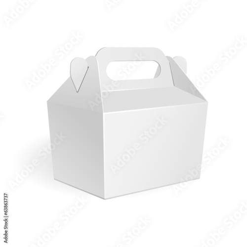 White Cardboard Fast Food Box, Packaging For Lunch