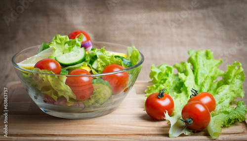 Fresh vegetable salad. Vegetarian food.