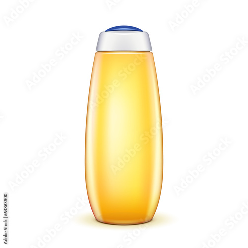 Oil Shower Gel Bottle Of Shampoo Yellow