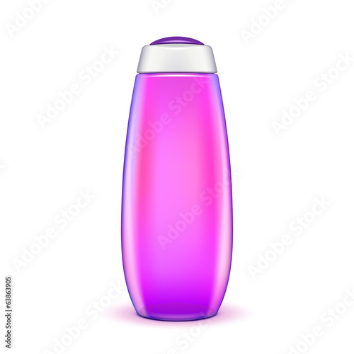 Oil Shower Gel Bottle Of Shampoo Pink Violet Purple