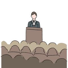 Man Making Public Speech