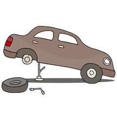 Fixing Flat Tire