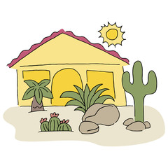 Home With Desert Landscaping