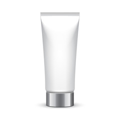 Tube Of Cream Or Gel Grayscale Silver White