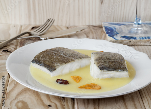 Cod with Pil Pil Sauce, Basque cookery.
