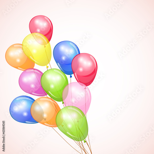 Holiday background with colorful balloons.