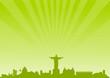 Skyline Rio de Janeiro grün