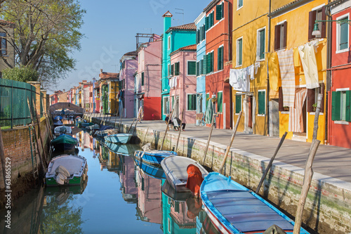 Venice - Houses over canal from Burano island