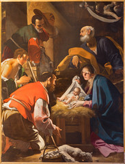 Bologna - The Adoration of the Shepherds in st. Pauls church