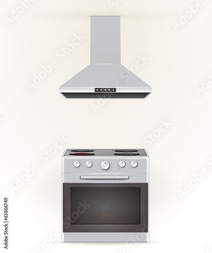 Illustration of stove and extractor