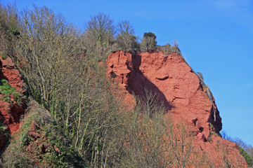 sandstone cliffs