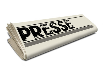 Zeitungsrolle mit Presse