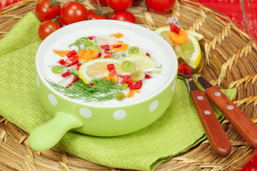 Cold Yogurt soup