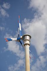 Aerogenerador, molino eolico con doble helice
