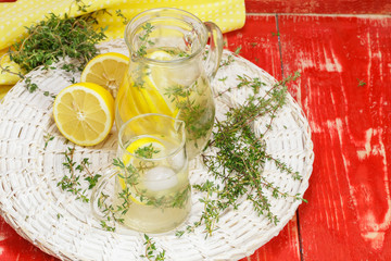Lemonade. Lemon Thyme Lemonade