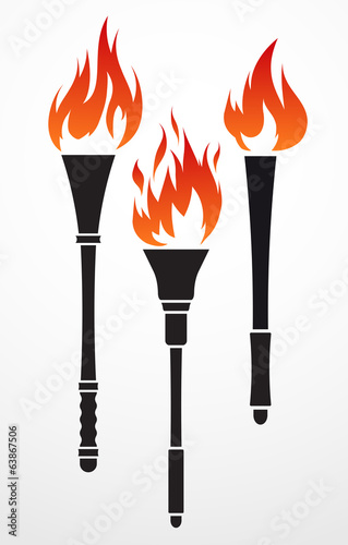 Set of 3 torches