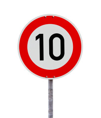 Speed limit sign 10