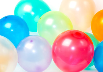 Close Up of balloons in various colors