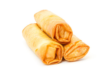Three fried spring rolls