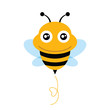 Cute Bee. Vector illustration.