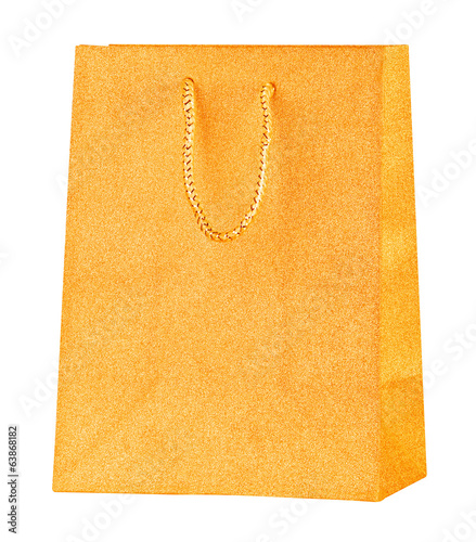 Golden shopping bag.